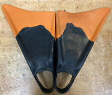 CHURCHILL LIMITED EDITION Swimfins size large FINS flippers Orange and Black