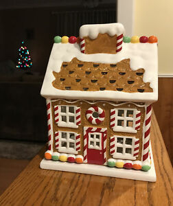 Bath Body Works 3 Wick Large Christmas Candle Holder Gingerbread House 2009