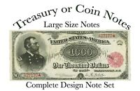 """Book Complete Treasury or Coin  Notes All Designs 5-1/2""""X11"""" Wire Bound"""