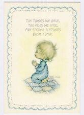 "Hallmark Betsey Clark Praying Vintage 5.25"" X 7.75"" Unused Postcard B18"