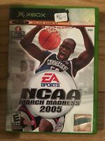 NCAA MARCH MADNESS 2005 - XBOX - COMPLETE WITH MANUAL - FREE S/H - (UU)