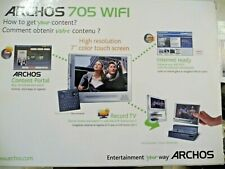 Archos 705 Wifi Silver (80 Gb) Digital Media Player Plus Dvr Station Gen 5