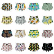 Pineapple Shorts for Women Teen Girls Summer Beach Sports Casual Short Hot Pants