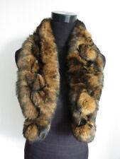 100% real rabbit fur scarf / women scarf / cape / wrap / brown 100*15cm