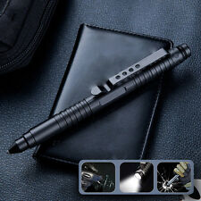 LED Flash light Tactical Pen Glass Breaker Kubaton Self Defense Military Combats