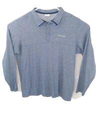 Columbia Mens XL Blue Partial Zip Jacket Pullover EUC Long Sleeve