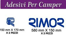 2 SET ADESIVI RIMOR - 58X16 centimetri + 15X17 centimetri - LOGO CAMPER