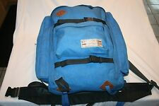 Vtg WILDERNESS EXPERIENCE Blue Canvas Leather Backpack Internal Frame M L USA