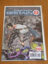 CAPTAIN BRITAIN AND MI13 #2 MARVEL COMICS 2ND PRINT AUGUST 2008 NM (9.4)