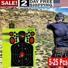 5-25 un. grandes objetivos tiro objetivo de papel Rifle Pistola Splatter resplandor nos Adhesivo