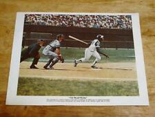 1976 Robert Thom Great Moments in Baseball Hank Aaron Color Print Chevrolet
