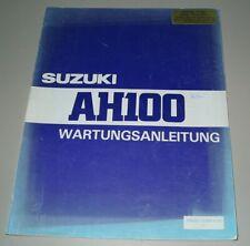 Werkstatthandbuch Suzuki Motorroller AH 100 Wartungsanleitung Reparaturanleitung