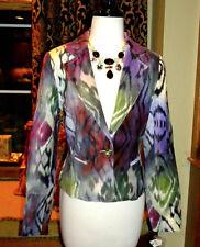 Boston Proper $189 Designer IKAT Velvet Blazer Jacket Bohemian Coat 4 XS-S NWT