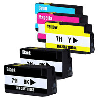 5x Compatible Ink Cartridges for HP 711 HP711 designjet T120 T520 Series