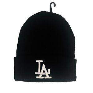 NEW Unisex Los Angeles LA Dodgers Beanie Skull Cap Cuff Winter Black One Size