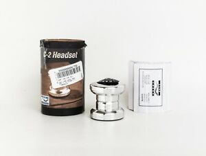 """New Unmounted Cane Creek C2 One Inch 1"""" Threadless Headset Silver Alloy"""