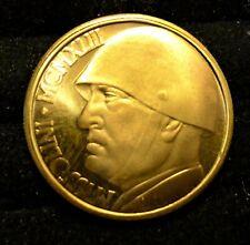 ✔ 1943 Italy 100 Lire Gold Mussolini Fantasy Coin X #7