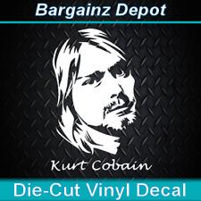 Vinyl Decal .. Kurt Cobain ..  Nirvana Music Car Truck SUV Laptop Sticker