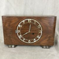 Art Deco Mantle Clock Westminster Chime Chiming Restoration Repair Wooden