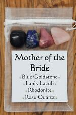 Mother of the Bride Crystal Set Goldstone Lapis Lazuli Rhodonite Rose Quartz