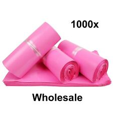 "1000 Baby Pink Mailing Translucent Mail Bags Postage Wholesale Job lot 6"" x 9"""
