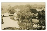 RPPC Aerial View of CLINTON NJ New Jersey Real Photo Postcard