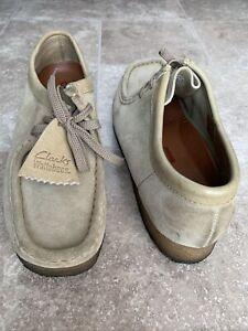 Clarks Originals Wallabee 35395 Women's Sz 9M Sand Desert Suede Crepe Sole Shoes