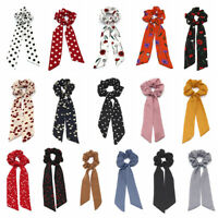 Rubber Ropes Floral Bow Scrunchie Ponytail Scarf Hair Rope Hair Bow Ties