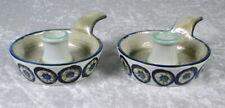 Royal Copenhagen 589/3367 Fajance Pottery Candle Holders Denmark Set Of 2