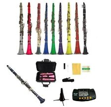 New Merano BB Clarinet w/Case in Black White Red Pink Blue Purple Green Yellow