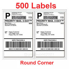 500 Shipping Labels Rounded Corners 2 Per Sheet 85 X 11 Self Self Adhesive Usa