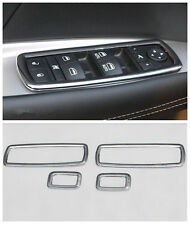 ABS Chrome Door Window Switch Cover Trim 4pcs for Jeep Grand Cherokee 2011-2015
