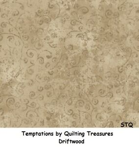 Temptations by Quilting Treasures Cotton Quilt Fabric Driftwood Tan Brown