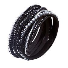 Crystal Cuff Bracelet Rhinestone Slake Deluxe Black Bracelet Swarovski Element
