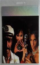 * PRINCE * -- LAMINATED BACKSTAGE PASS - 1998 TOUR with CHAKA KHAN - RARE - FOIL