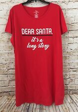 Christmas nightshirt womens Large/XL Dear Santa Its Long Story pajamas New G7