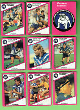 1988  CANTERBURY BANKSTOWN BULLDOGS   SCANLENS RUGBY LEAGUE CARDS