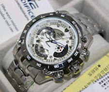 Imported Casio Edifice EF-550 White dial Retrograde Chronograph Watch for Men