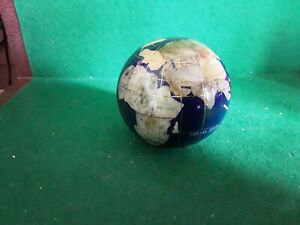Semi Precious Stone World Globe Paperweight