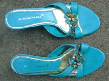 A. Marinelli  women's turquoise  high heel shoes size 7 1/2 M