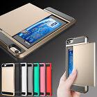 For APPLE iPhone 8 5s SE 6s 7 Plus Wallet Case Cover Card Holder ShockProof