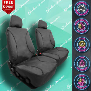 FOR DAIHATSU HANDI STRONG CANVAS ALL OVER! WATERPROOF GREY CAR FRONT SEAT COVERS