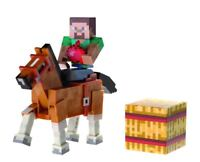 Minecraft Overworld Steve and Horse Action Figure Set
