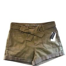 Vanilla Star Womans Junior Sz 13 High Rise army green summer Jean Shorts NWT