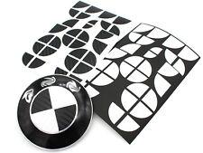 Carbon Emblem Ecken Set schwarz+weiß für BMW M M3 F30 F31 F12 F13 F06 M6 Paket