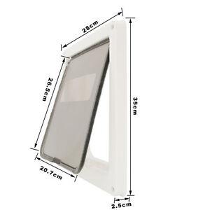 Lockable 2 Way Brush Dog Doors Flaps For Cat Medium Dog Door Frame+ Safe Panel