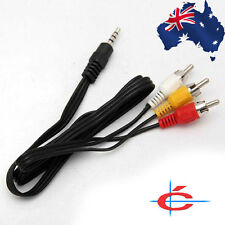 3.5mm Jack Plug to 3RCA Adapter Audio Video AV MP4 DV Cable Camcorder 0.9 m