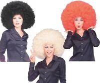 Super Huge Afro Wig Big Retro 70s Disco Clown Costume Black Red or Blonde
