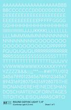 K4 O Decals White 1/4 Inch Round Modern Gothic Light Letter Number Alphabet Set