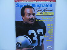 JIM BROWN SIGNED OAKLAND RAIDERS SPORTS ILLUSTRATED 12/12/1983 PSA/DNA